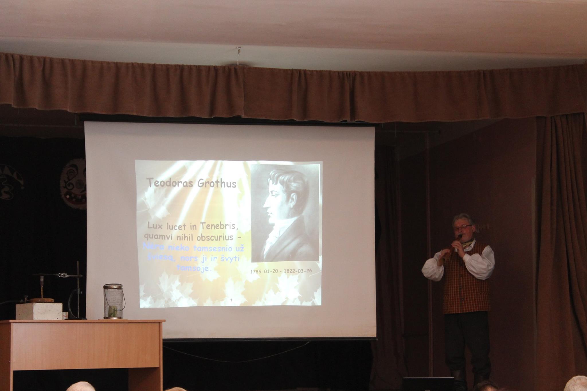 Grotuso 230-ojo gimtadienio minėjimas Žeimelio gimnazijoje